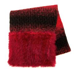 Платок женский, красно-черный, 85-7F-001-2, Фотография 1