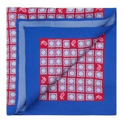 Платок нагрудный, красно-голубой, 87-7P-001-X4, Фотография 1