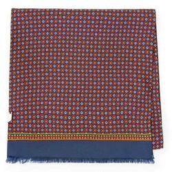 Мужской шелковый шарф, красно - синий, 91-7M-S42-X1, Фотография 1