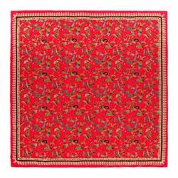Женский шелковый шарф, Красно-зелёный, 91-7D-S40-X2, Фотография 1