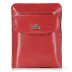 Барсетка кожаная для паспорта, красный, 10-5-127-3, Фотография 1
