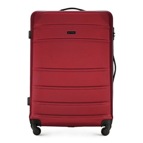 Большой чемодан, красный, 56-3A-653-01, Фотография 1