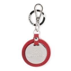Брелок кожаный круглый, красный, 03-2B-002-S3, Фотография 1