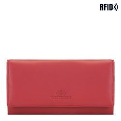 Большой женский  кожаный кошелек, красный, 02-1-052-3L, Фотография 1