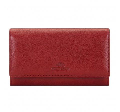 Женский кожаный кошелек горизонтальный, красный, 21-1-235-1L, Фотография 1