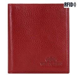 Кожаная кредитница, красный, 21-2-291-3L, Фотография 1