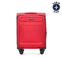 Тканевой чемодан ручная кладь, красный, 56-3S-581-30, Фотография 1