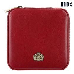 Кожаная шкатулка для украшений|, красный, 10-2-300-3, Фотография 1