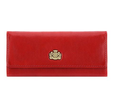 Кожаный чехол для ключей с логотипом, красный, 10-2-013-4, Фотография 1