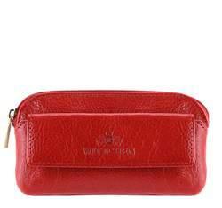 Ключница кожаная с карманом, красный, 21-2-265-3, Фотография 1