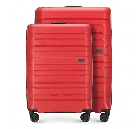 Комплект (Большой + средний чемодан), красный, 56-3T-752_3-24, Фотография 1