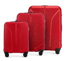 Комплект чемоданов, красный, 56-3P-81S-30, Фотография 1