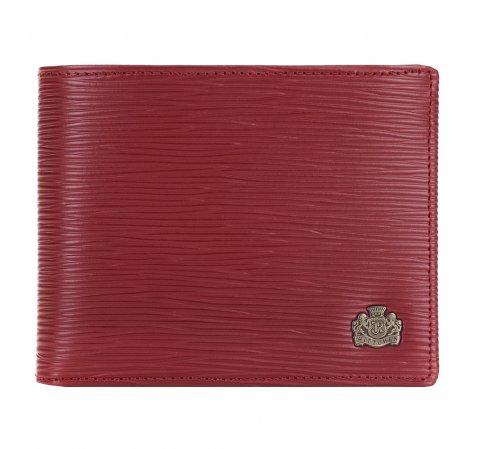 Кошелек  кожаный женский с фактурной текстурой, красный, 03-1-262-3, Фотография 1