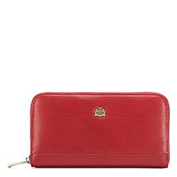 Женский винтажный кожаный кошелек, красный, 10-1-104-3, Фотография 1