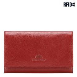 Женский классический кожаный кошелек, красный, 21-1-036-L3, Фотография 1
