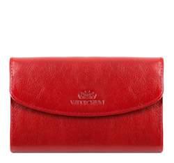 Классический средний кожаный кошелек, красный, 21-1-045-3, Фотография 1