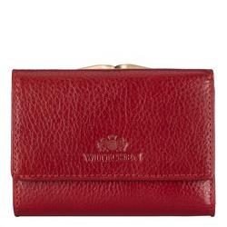 Женский кожаный маленький кошелек на защелке, красный, 21-1-053-30, Фотография 1