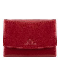 Женский кожаный кошелек среднего размера, красный, 21-1-062-30, Фотография 1