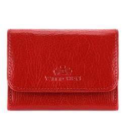 Маленький кожаный кошелек на кнопке, красный, 21-1-068-3, Фотография 1