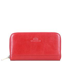 Женский кожаный кошелек в стиле ретро, красный, 21-1-104-3, Фотография 1