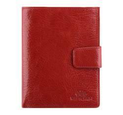 Женский кожаный кошелек с прозрачным карманом, красный, 21-1-339-3, Фотография 1