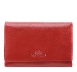 Женский стильный кожаный кошелек среднего размера, красный, 21-1-361-3, Фотография 1