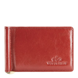 Держатель кожаный для банкнот классический, красный, 21-2-269-3, Фотография 1