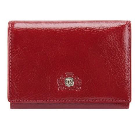 Женский кожаный кошелек с застежкой кнопка, красный, 22-1-071-3, Фотография 1