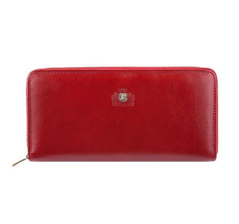 Женский кожаный кошелек на молнии, красный, 22-1-482-3, Фотография 1