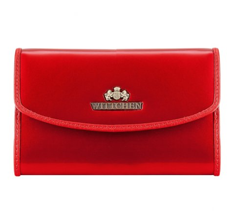 Элегантный женский кожаный кошелек, красный, 25-1-045-1, Фотография 1