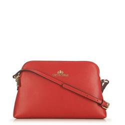 Женская сумка через плечо из кожи трапециевидной формы, красный, 29-4E-006-30, Фотография 1