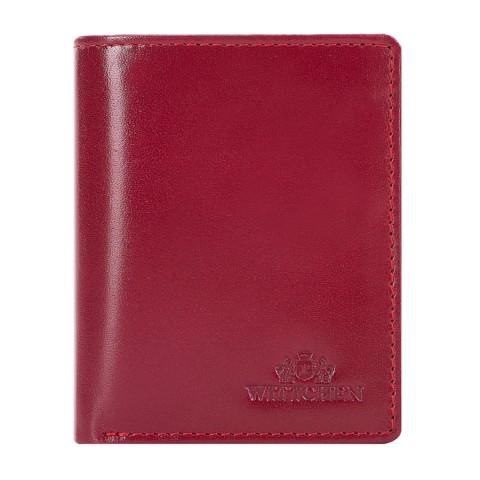 Кожаный кошелек с логотипом, красный, 26-1-435-1, Фотография 1