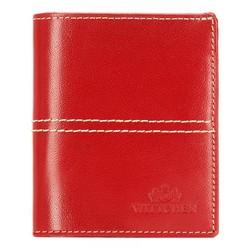 Кожаный кошелек стеганый, красный, 14-1-124-L3, Фотография 1