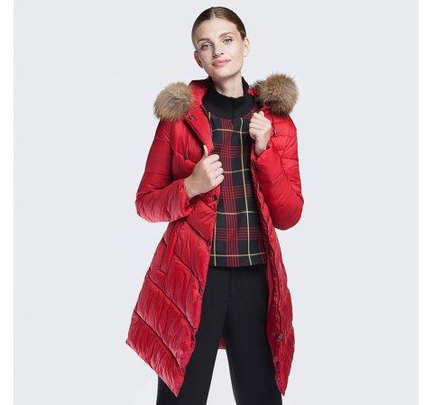 Куртка женская, красный, 87-9N-500-3-3XL, Фотография 1