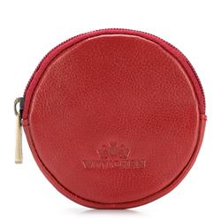 Монетница кожаная круглая, красный, 21-2-033-3, Фотография 1