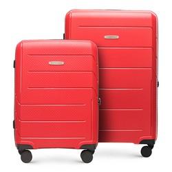 Набор чемоданов из полипропилена в современном дизайне, красный, 56-3T-77S-3R, Фотография 1