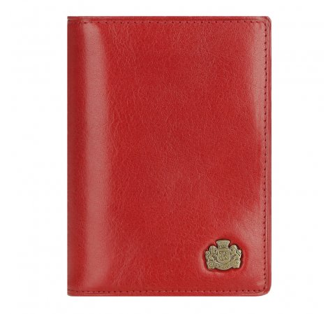 Кожаная обложка для документов с гербом, красный, 10-2-174-N, Фотография 1
