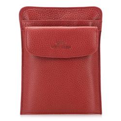 Барсетка кожаная для паспорта, красный, 17-5-127-3, Фотография 1
