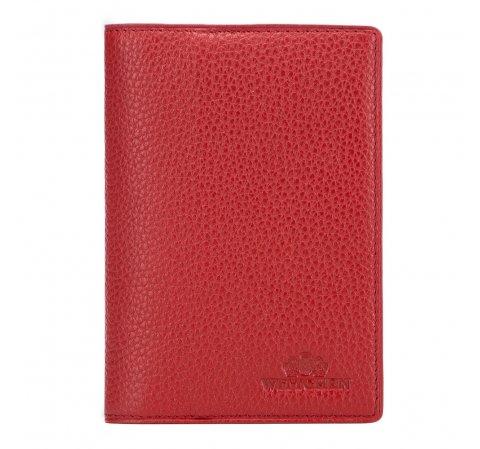 Обложка для паспорта, красный, 17-5-128-3, Фотография 1