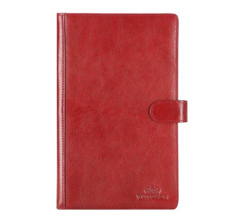 Кожаный органайзер для документов с зажимом и обложкой, красный, 21-2-004-1, Фотография 1