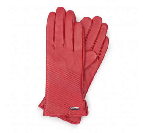 Перчатки женские, красный, 39-6-567-1-V, Фотография 1