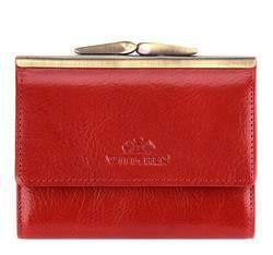 Женский кожаный маленький кошелек на защелке, красный, 21-1-059-3, Фотография 1