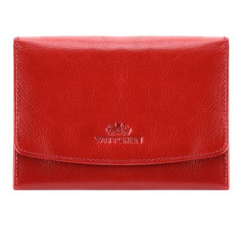 Женский кожаный кошелек с карманом на защелке, красный, 21-1-062-4, Фотография 1