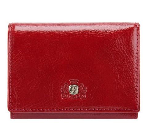 Женский кожаный кошелек на кнопке, красный, 22-1-070-3, Фотография 1