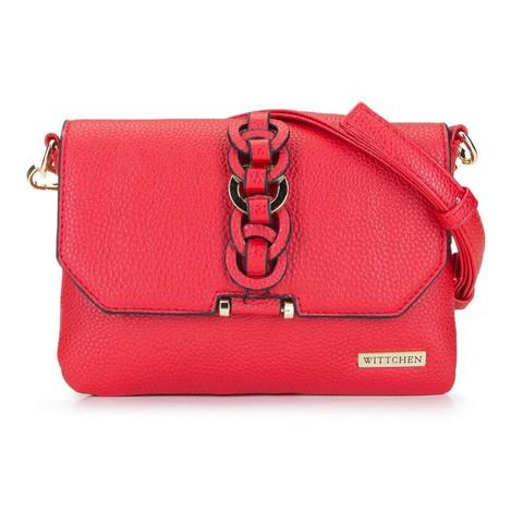 Женская сумка через плечо с переплетеньем, красный, 92-4Y-241-3, Фотография 1