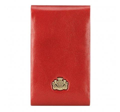 Красная кожаная визитница с логотипом, красный, 10-2-240-33, Фотография 1