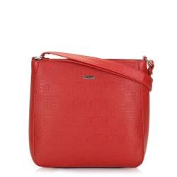 Женская сумка через плечо с тиснением, красный, 91-4Y-625-3, Фотография 1