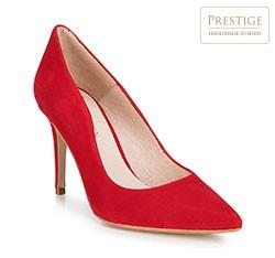 Женские замшевые кожаные туфли, красный, 89-D-150-3-36, Фотография 1