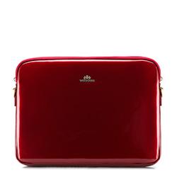 Женский чехол для ноутбука 15,6 дюйма, лакированная кожа | WITTCHEN, красный, 25-2-517-3, Фотография 1