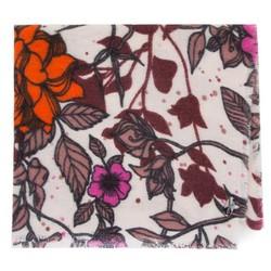 Női sál virágokkal és pillangókkal, krém-narancs, 91-7D-X22-X1, Fénykép 1